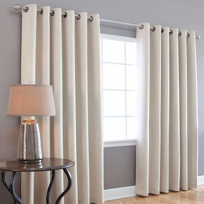 white blackout curtains with ring