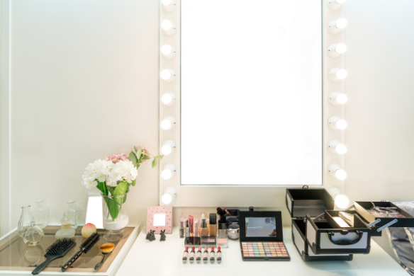 Other DIY Makeup Vanity with some lights